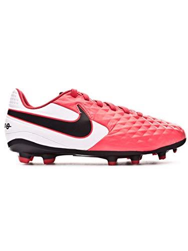 Nike Legend 8 Academy FG/MG, Zapatillas de Futsal, Laser Crimson/Black/White, 37.5 EU