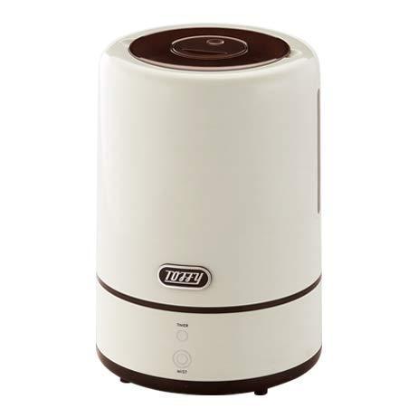 Toffy トフィー アロマ 加湿器 ディフューザー 上部給水式 TF94-HF ペールアクア アッシュホワイト レトロ 超音波振動方式 超音波式 (アッシュホワイト)