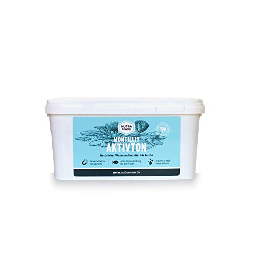 Nutramare Montillit Aktivton 1,2kg | Natürlicher Teich-Wasseraufbereiter für klares Teichwasser, Garten-Teichpflege, Koi