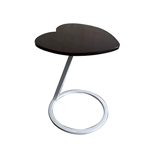 Xiaolin Bois Massif Table D'appoint Canapé, Forme De C Table D'ordinateur Portable Table Basse Parloir Art De Fer Table d'angle (Couleur : D)