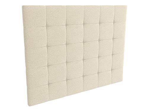LA WEB DEL COLCHON - Cabecero tapizado Celio para Cama de 160 (170 x 120 cms) Beige Claro Textil Suave