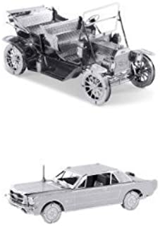 Metal Earth 3D Laser Cut Model Set - 1965 Ford Mustang & 1908 Ford Model T