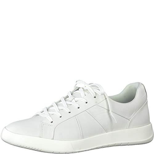 Tamaris Damen Schnürhalbschuhe 23613-24, Frauen sportlicher Schnürer, Halbschuh schnürschuh strassenschuh Sneaker schnürer,White,38 EU / 5 UK