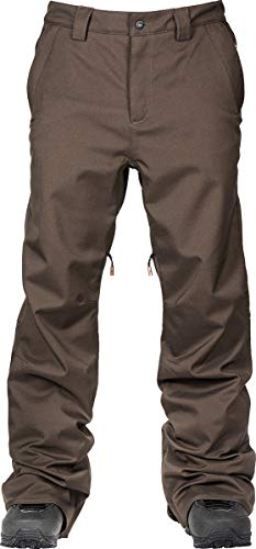 L1 Premium Goods Herren Slim Chino Pant '21 Hose Wasserabweisend Atmungsaktiv Snowboardhose Men, Espresso, L