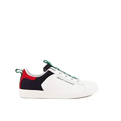 Armani Exchange Herren Berlin Casual Low TOP Sneaker, Opt.White+Multicolor, 46 EU