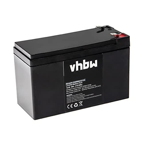 vhbw Batería de a Bordo para Caravana, Barco, Camping, Autocaravana (9 Ah, 12,8 V, LiFePO4)