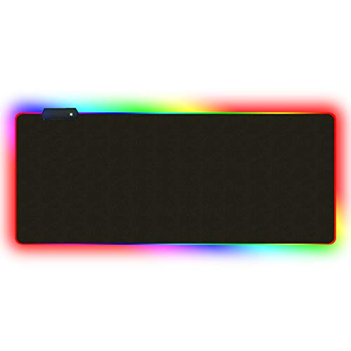 XY&YD Oversized Glowing Led Extended Mouse Mat, muismat met gestikte Edge Mousepad Dikke Grote Gaming Tafel Pad Ontworpen voor maximale Controle(4mm)
