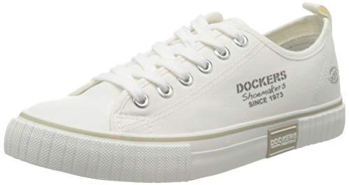 Dockers by Gerli Women's Low-Top Sneakers, White Weiss 500, 9.5
