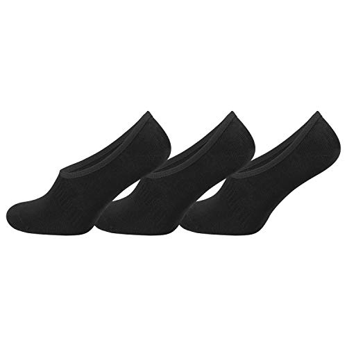 TippTexx24 6 Paar Bambus Sneakersocken (Sneaker Socken) oder Füßlinge, Footies (39/42-6 Paar, Füßl-schwarz)