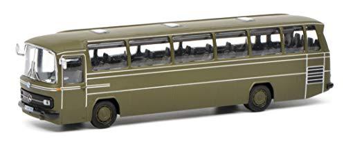 Schuco 452642500 MB 452642500-Mercedes Benz O302 Bus Bundeswehr 1:87, Modellauto, Modellfahrzeug, Olive