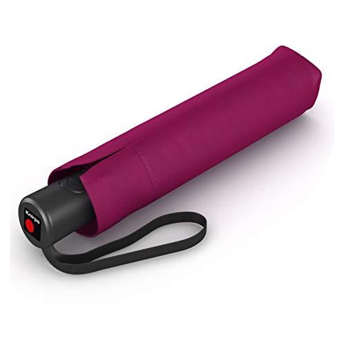 Knirps Taschenschirm A.200 Medium Duomatic – Kompakt und sturmfest – Windkanal getestet – Dark Violet