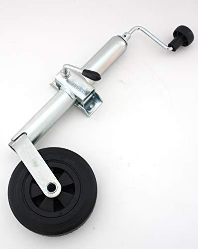 p4U Stützrad Spornrad Bugrad + Halter Klemmschelle von Knott 150kg 48mm für Anhänger Wohnwagen