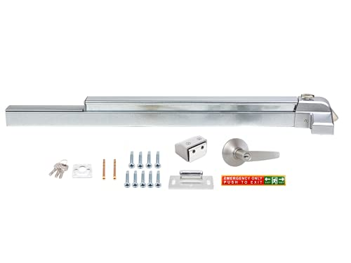 Laniti Hardware Push Bar Stainless Steel Commercial Emergency Exit Bar Panic Exit Device Suitable for Wood Metal Door (Handle Lever - Without Alarm)