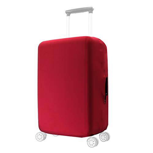 kwmobile Coprivaligia con cerniera - Fodera copertura protettiva - Copritrolley leggero elastico in poliestere e spandex per bagagli rosso scuro