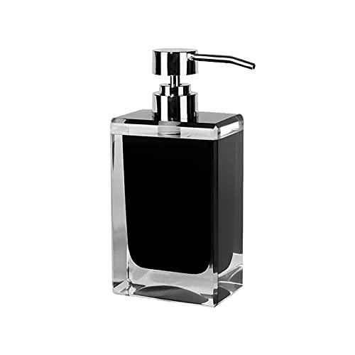 Dispensador de Jabon Botella de botella de lotión de resina negra El champú del dispensador de jabón y la botella hidratante se pueden usar en el baño de viajes Dormitorio 200ml /7oz Dispensador Jabon
