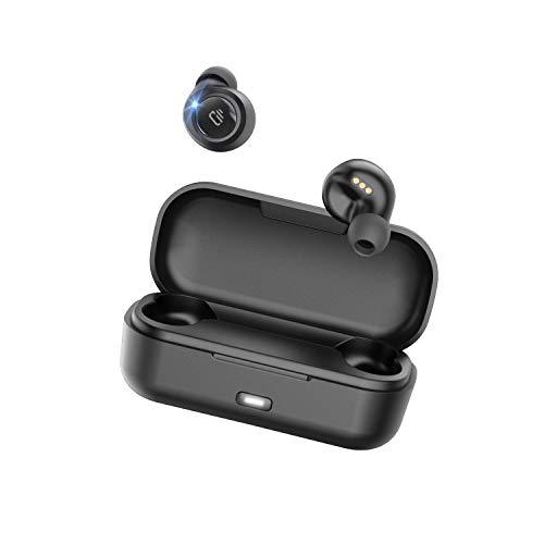 Dudios Auriculares Bluetooth Sport, Control táctil Caja de Carga Portátil Micrófono Integrado para Smartphone