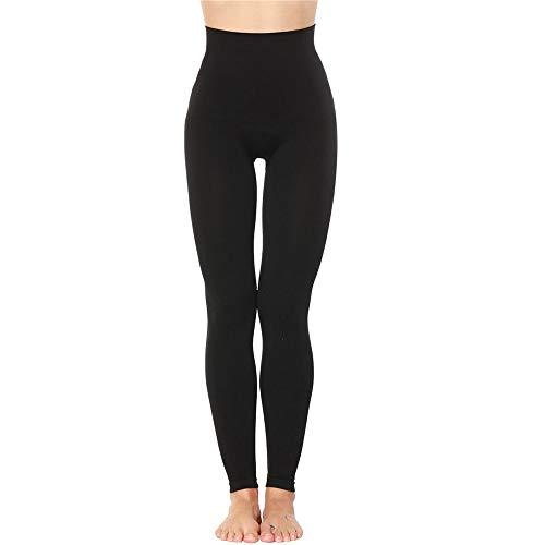 Rugsteungordel Vrouwen Afslanken Legging High Waist Trainer Modeling Body Shaper Elastic Tight Slim Leg Tummy Controle Panties Broek Black brace Lumbale (Color : Sexy black 1, Size : S)