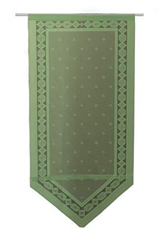 SCHMIDTGARD STOFFE Türgardine Panneaux Scheibengardine Türpanneaux Fenster- und Türbehang ca. 60 x 120 cm grün