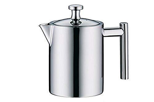 alfi Teekanne Edelstahl mit Teesieb 600ml, Teezubereiter für direktes Brühen in die Kanne, Vintage Teekannen-Set: Kanne + Metall- Siebeinsatz, ideal für losen Bio-Tee, Spülmaschinenfest - 2109.000.060