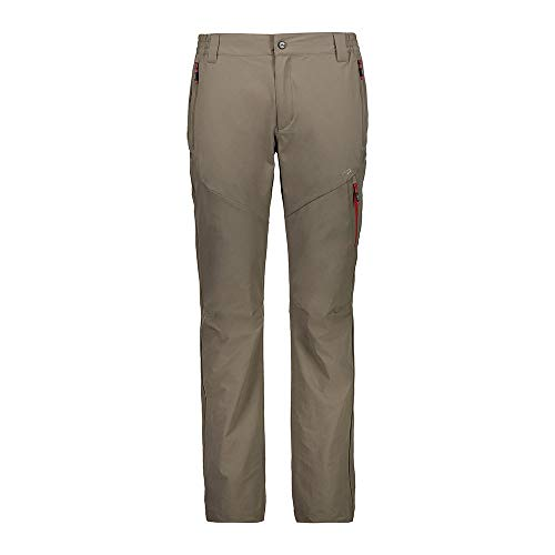 CMP Herren Lange Trekkinghose Stretch 30T6507 Hose, Wood, 52