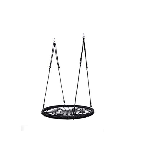 MYFSPORTS Set de Columpio Infantil al Aire Libre hasta 200 kg,con Cuerda Ajustable para para Casa Jardín Interiores o Exteriores Black
