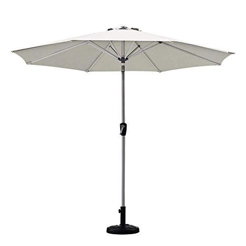 Inicio Equipos Sombrillas Sombrilla de patio de 2,7 m / 9 pies Sombrilla de mercado de mesa al aire libre con botón de inclinación fácil para terraza de jardín, patio trasero y piscina, color caqui