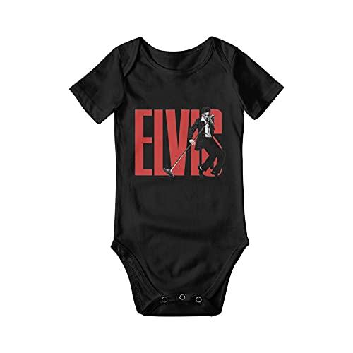 Yoknhs Elvis Aaron Presley Body de Manga Corta para Bebé Baby Body Romper Unisex Soft Manga corta Onesie 0-2t