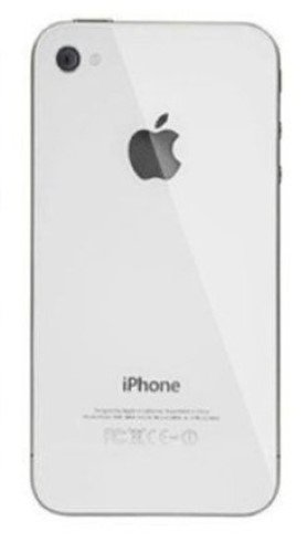 White Cover OEM Replacement Glass Back Battery Cover for iPhone 4 A1349 Verizon (White)