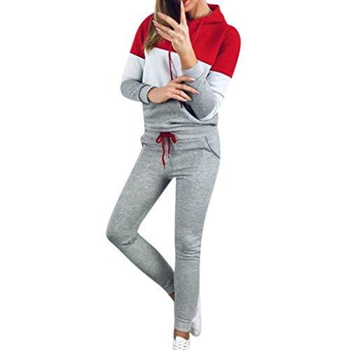 Dtuta Jogginganzug Freizeitanzug,Damen 2 Stück Samt Oder Samt Optik Elegant Sport Bekleidung Set aus Bauchfrei Kapuzenpullover Sexy Jacke mit Sport Leggings Sweatpants Outdoor Yoga Set