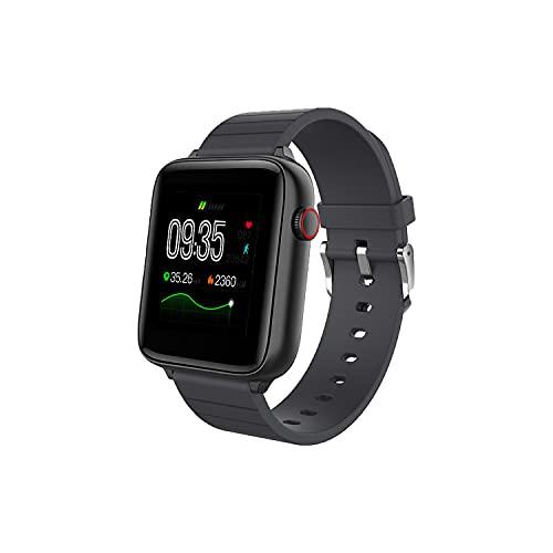 Smartwatch, 1.54' Reloj Inteligente Mujer/Hombre Impermeable IP68 Pulsera Actividad 7 Modos Deporte con Pulsómetro Monitor de Sueño Monitores Actividad Cronómetros Calorías Podómetro para Android iOS
