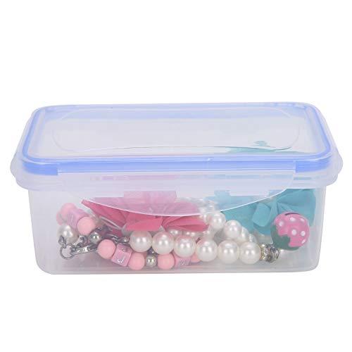 Dioche Caja de Almacenamiento - Organizador de batería de componentes electrónicos - Accesorio para contenedor de Anillo de joyería, Transparente