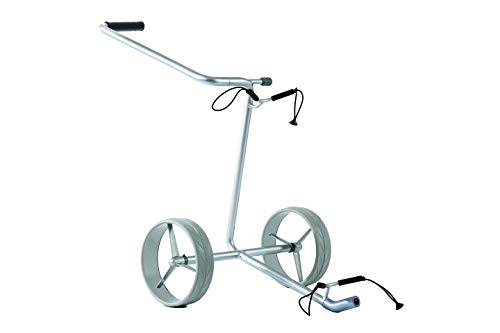 JuStar Golftrolley manuell Silver Golf Trolley 2 Rad, Titansilber, ca. 1 Meter