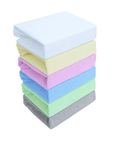 Spannbettlaken Kinderbett FROTTE 60x120 70x140 80x160 Top Qualität Hohe Gewicht 180g/m2 (80x160, Grau)