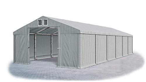 Das Company Lagerzelt 6x12m wasserdicht grau Zelt 560g/m² PVC Plane ganzjährig Zelthalle Winter SD