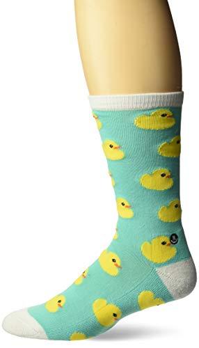 Neff Herren Ducky Crew Socken, Blaugrün/Gelb Ente, Einheitsgröße