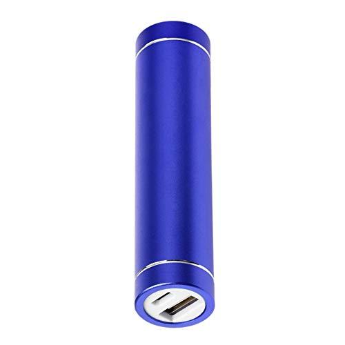 CVBN Carcasa de batería de Banco de energía de Cilindro Multicolor 1x18650 con Puerto de Carga USB, Azul Oscuro