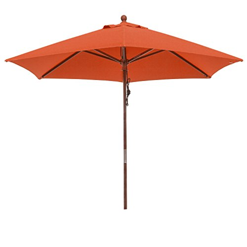 anndora® Sonnenschirm Balkonschirm ø 2,5 m rund - mit Winddach Terracotta