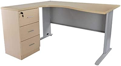 Mahmayi Stazion Modern Office Workstation Desk (140Cm)-W140Cms X D120Cms X H75Cms (Oak) ME1412Oak