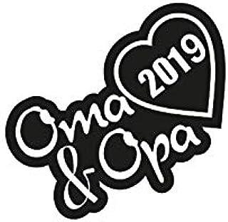 1 X 2 Plott Aufkleber Oma Opa 2019 Sticker Familie Autoaufkleber Tuning Decal Auto