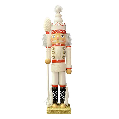 Phoetya, statuetta tradizionale in legno con schiaccianoci soldato, 42 cm, motivo natalizio da collezione, motivo: pupazzi e pupazzi