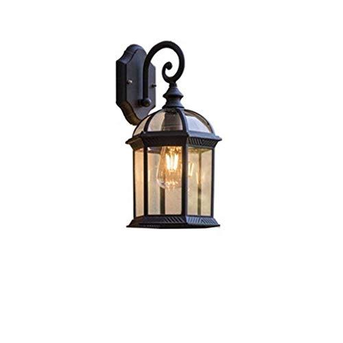 Nanyun buitenwandlamp, buitenlamp, wandmontage, lantaarn, met glazen blazer, lampenkap, moderne buitenverlichting