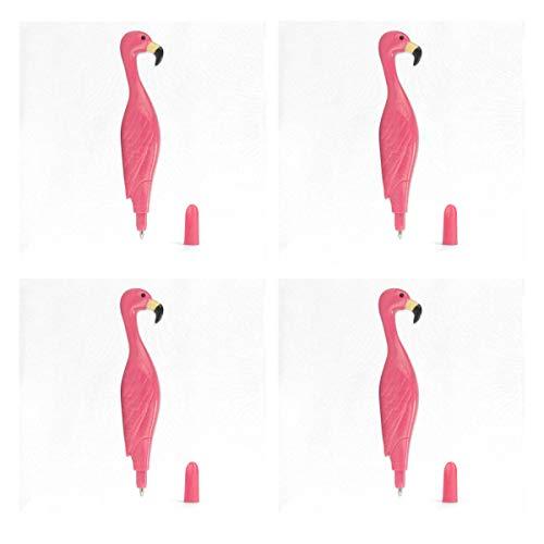 BJAMAJ Balpen Flamingo Placemats, Dikke Hittebestendige Vlekbestendige Anti-slip Polyester Diner Tafelmatten, Set van 4 (12'' x 12'')