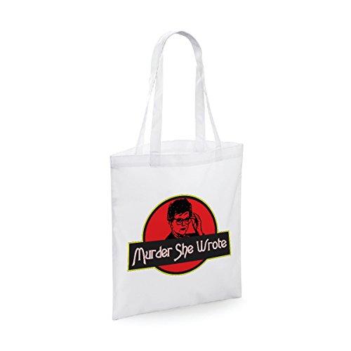 bubbleshirt Shopping Bag Murder She Wrote - La Signora in Giallo - Jessica Fletcher - Idea Regalo - Dimensioni: 38 x 42 cm