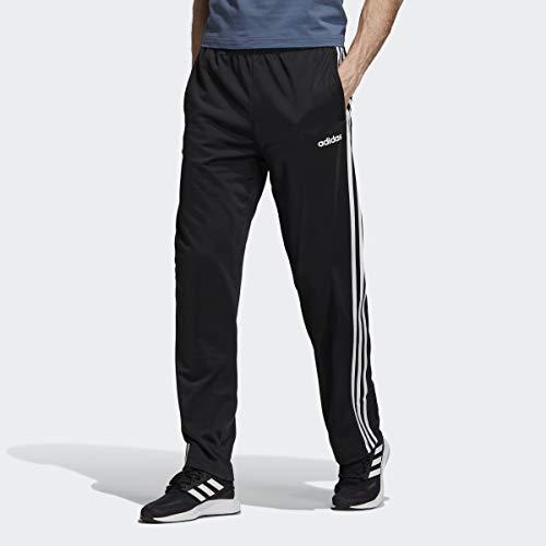 adidas Men's 3-Stripes Open Hem Pants, Black/White, XX-Large