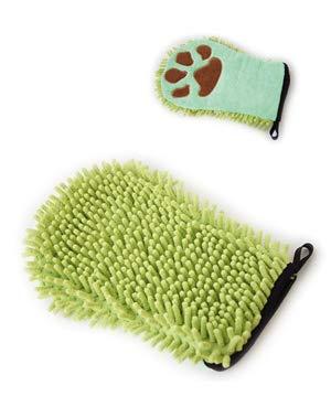 Double gant de toilettage pour chien
