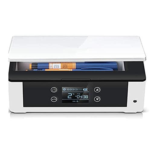 XJZHANG Enfriador De Insulina, Refrigerador Portátil para Medicamentos con Alarma De Control De Temperatura Inteligente, Mini Caja Refrigerada para Medicamentos para Automóvil/Viaje/Hogar