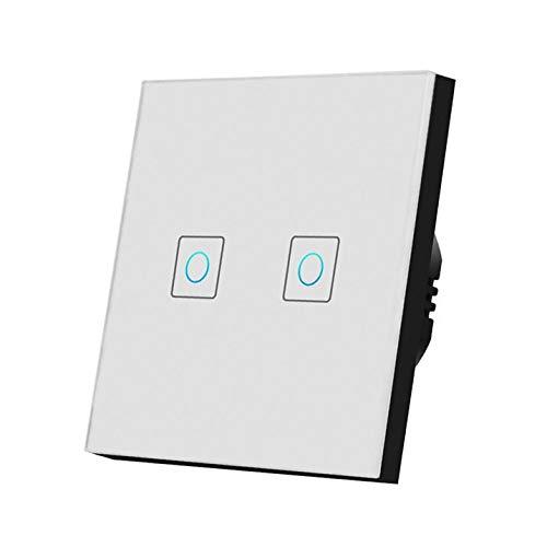 HLIANG Conmutador Interruptor táctil Ligero 220V Sensor Lámpara de Pared Interruptor estándar 1/2/3 Pand Gang Panel de Vidrio Templado Interruptor Inteligente a Prueba de Agua 050