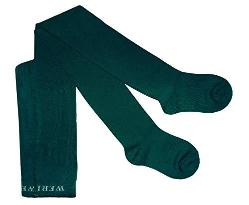 Weri Spezials Baby & Kinder Strumpfhose Baumwolle für Mädchen UNI Glatt in mehreren Farben (80-86, Petrol)