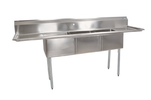John Boos E Series Multi Bowl Commercial Kitchen sink, 3 Compartment
