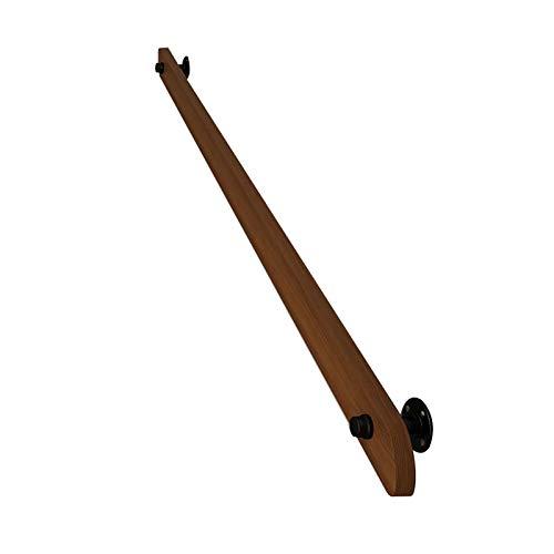 Barandilla de madera para pasamanos, pasamanos de escalera antideslizantes sin barreras, para barandillas de apoyo de seguridad en interiores y exteriores pasamanos de pasillo, para barandilla de ac